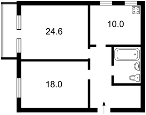 Квартира Довнар-Запольского Митрофана, 4, Киев, X-21260 - Фото 2