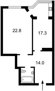 Квартира Гетьмана Вадима (Індустріальна), 1б, Київ, X-23121 - Фото2