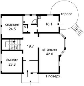Дом Садовая, Петропавловская Борщаговка, Z-663778 - Фото 3