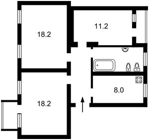 Квартира Антонова Авиаконструктора, 2/32 корпус 8, Киев, F-6855 - Фото2