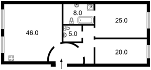 Квартира Коновальца Евгения (Щорса), 36б, Киев, D-29044 - Фото 2