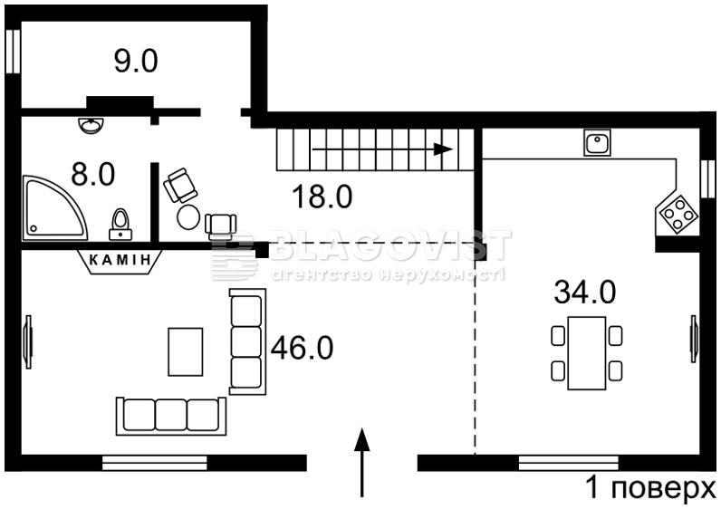 Дом F-22822, Зеленая, Иванковичи - Фото 2