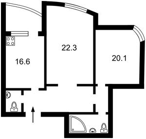 Квартира Ахматової Анни, 47, Київ, Z-1248542 - Фото2