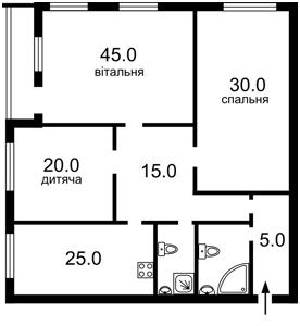 Квартира Механізаторів, 2, Київ, A-104305 - Фото2