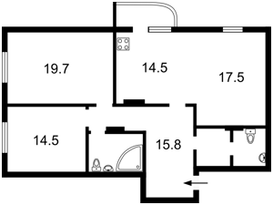 Квартира Руданського Степана, 4-6, Київ, I-17935 - Фото2