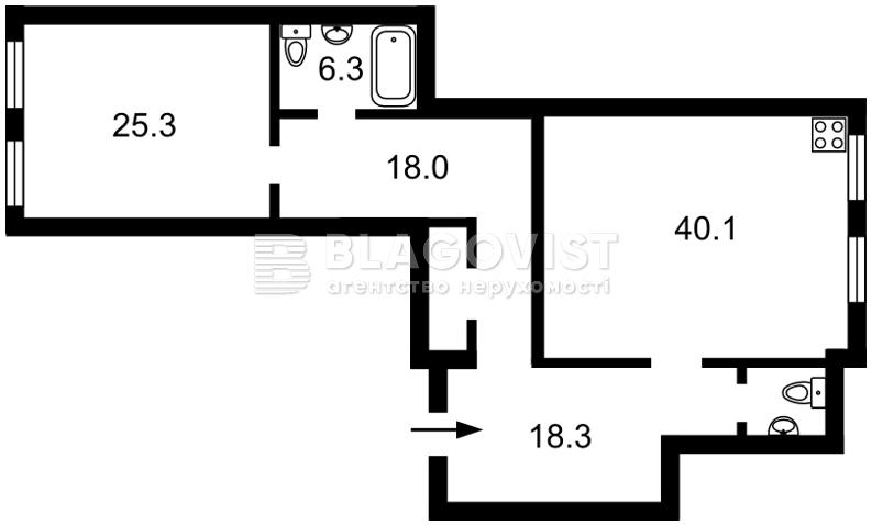 Квартира A-104567, Лобановського, 21, Чайки - Фото 5