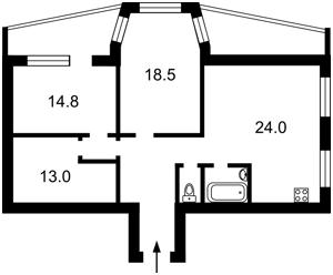 Квартира Гордиенко Костя пер. (Чекистов пер.), 1а, Киев, A-104705 - Фото 2