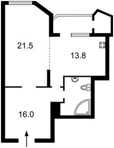 Квартира Кудряшова, 20б, Киев, D-30018 - Фото 2