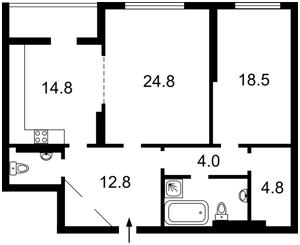 Квартира Барбюса Анри, 5в, Киев, Z-1609733 - Фото2