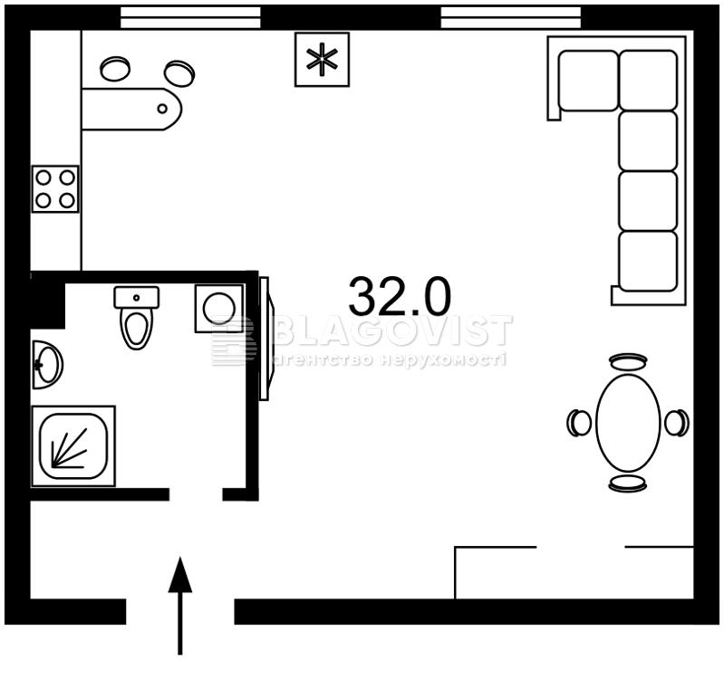 Квартира Z-1644860, Франко Ивана, 3, Киев - Фото 2