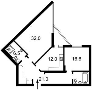 Квартира Коновальца Евгения (Щорса), 44а, Киев, E-34150 - Фото 2
