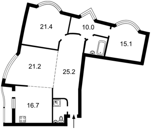 Квартира Днепровская наб., 19, Киев, A-105172 - Фото2