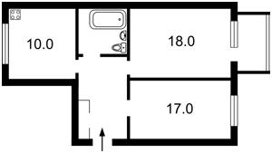 Квартира Лобановського просп. (Червонозоряний просп.), 57, Київ, D-14870 - Фото2