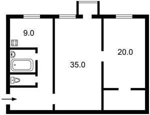 Квартира Січових Стрільців (Артема), 10, Київ, Z-1524418 - Фото2