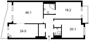 Квартира Окипной Раиcы, 18, Киев, Z-1714885 - Фото2