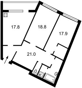 Квартира Мельникова, 18б, Київ, F-35157 - Фото2