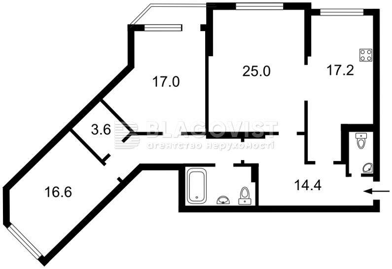 Квартира D-12410, Княжий Затон, 21, Київ - Фото 7