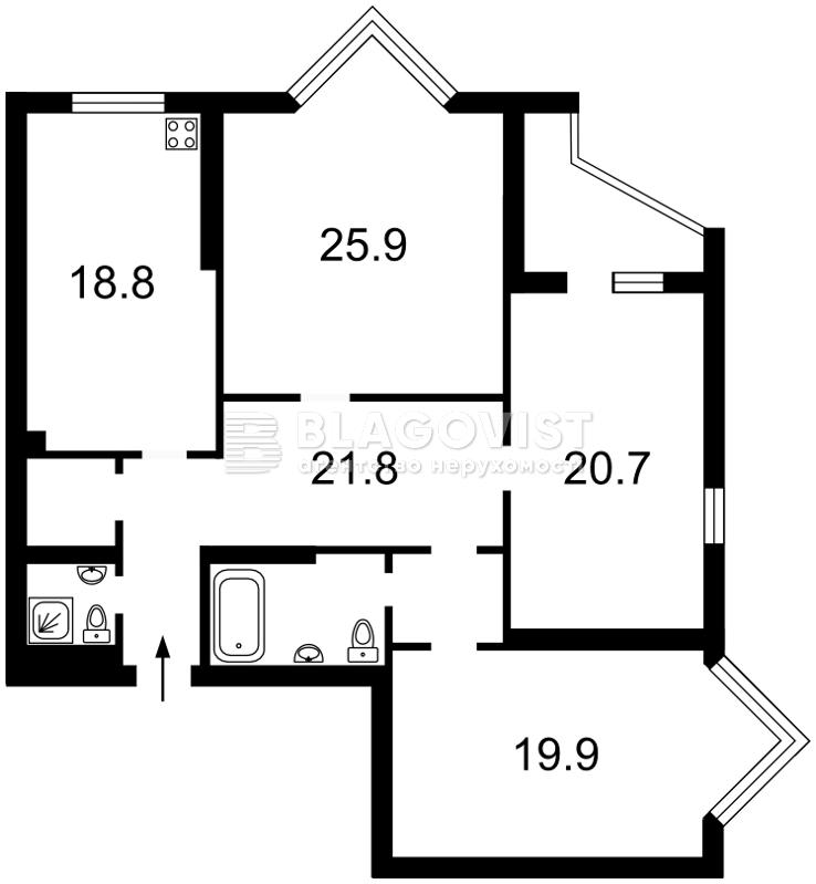 Квартира D-30303, Коновальца Евгения (Щорса), 32 г, Киев - Фото 6