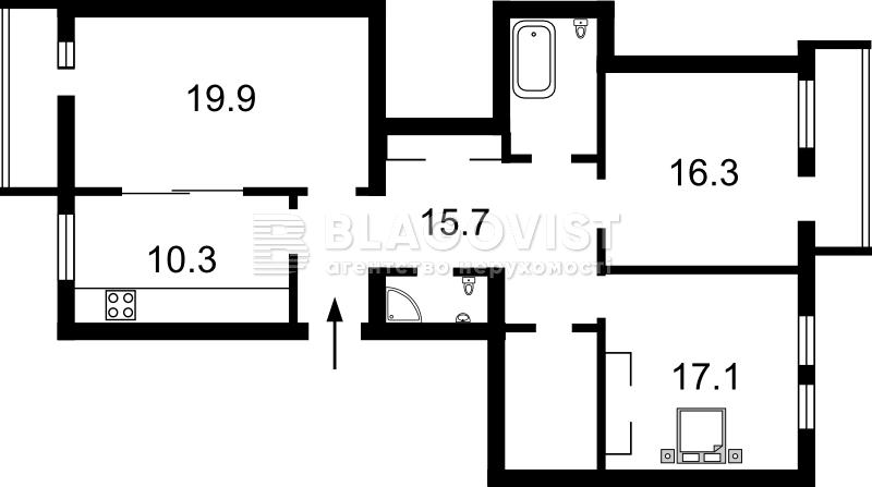 Квартира X-11244, Гарматная, 21/30, Киев - Фото 3
