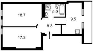Квартира A-54956, Мазепи Івана (Січневого Повстання), 14, Київ - Фото 4
