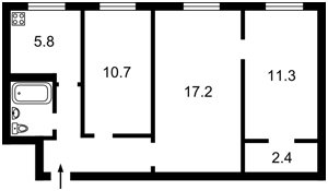 Квартира Василенка Миколи, 11а, Київ, X-20882 - Фото2