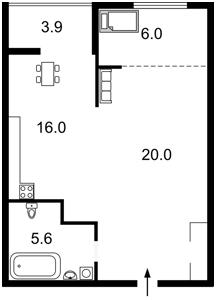 Квартира Патриарха Скрипника (Островского Николая), 40, Киев, X-28801 - Фото2
