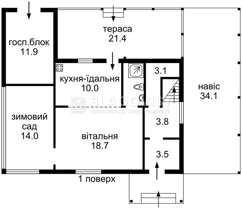 Дом H-36576, Колонщина - Фото 1