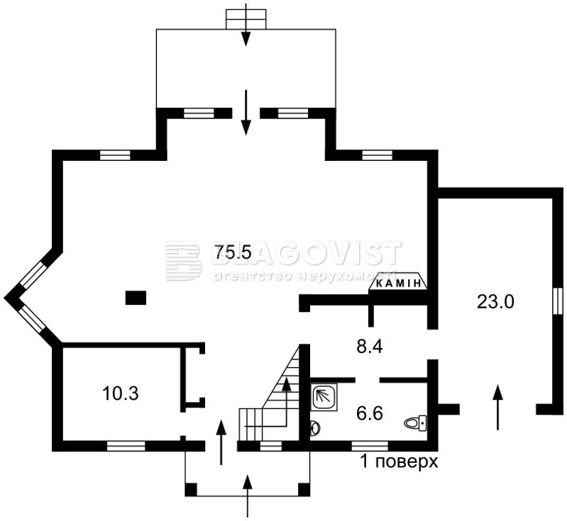 Дом Z-1056847, Печерская, Софиевская Борщаговка - Фото 2