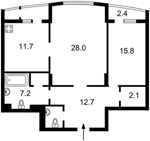 Квартира Лесі Українки бул., 7б, Київ, C-102409 - Фото2