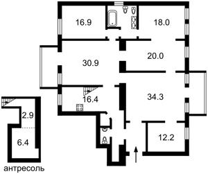 Квартира Толстого Льва, 11/61, Киев, E-34790 - Фото 2