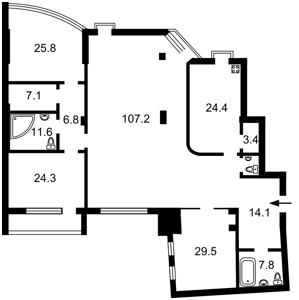 Квартира Бульварно-Кудрявская (Воровского) , 36, Киев, X-31351 - Фото2