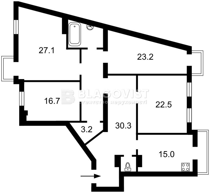 Квартира H-36789, Большая Житомирская, 25/2, Киев - Фото 3