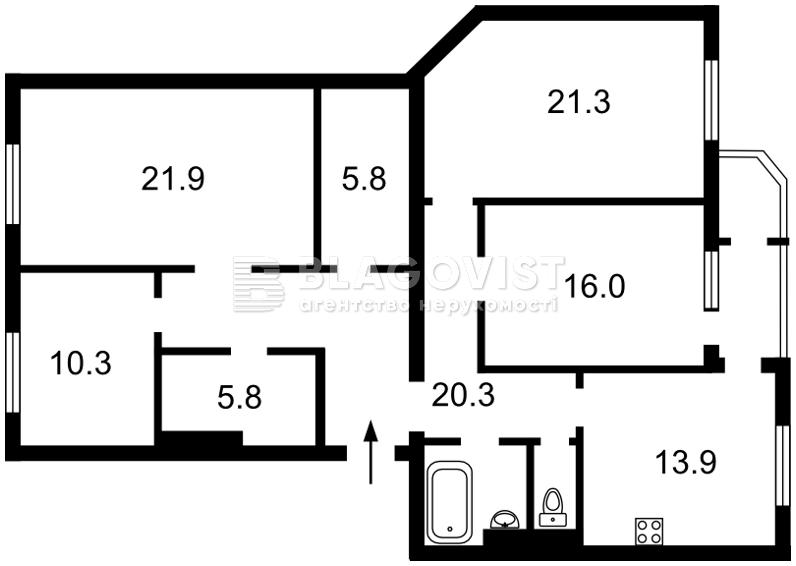 Квартира X-16699, Матикіна Генерала, 12, Київ - Фото 7