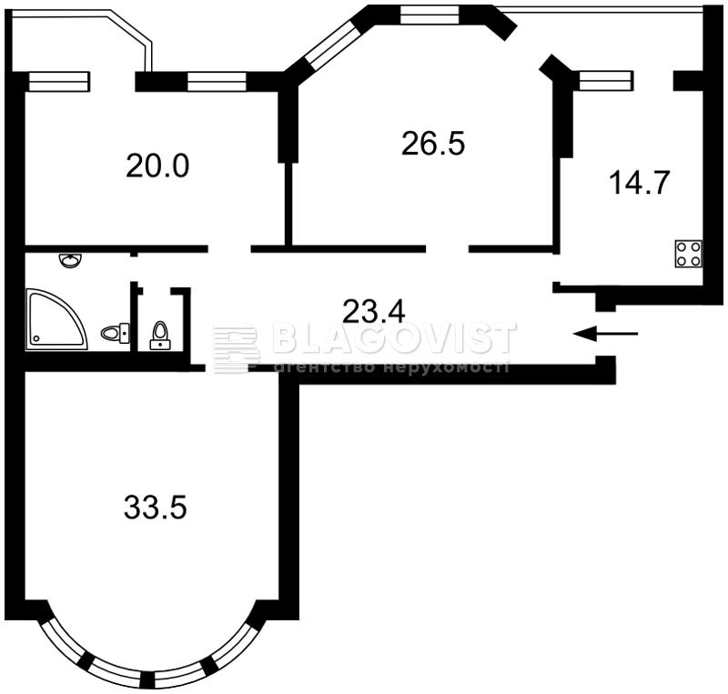 Квартира Z-1541111, Никольско-Слободская, 4в, Киев - Фото 3