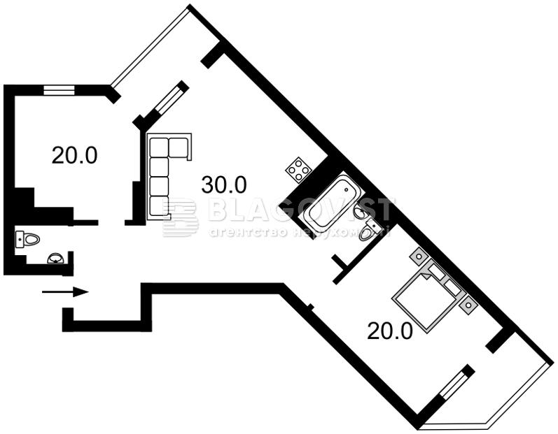 Квартира D-30608, Голосеевская, 13б, Киев - Фото 6