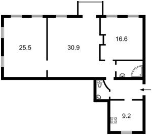 Квартира Хмельницкого Богдана, 35/1, Киев, Z-1795384 - Фото2