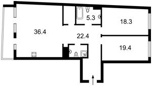 Apartment Peremohy avenue, 42, Kyiv, Z-1862203 - Photo2