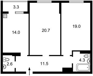 Квартира Мельникова, 51б, Киев, Z-1709865 - Фото2