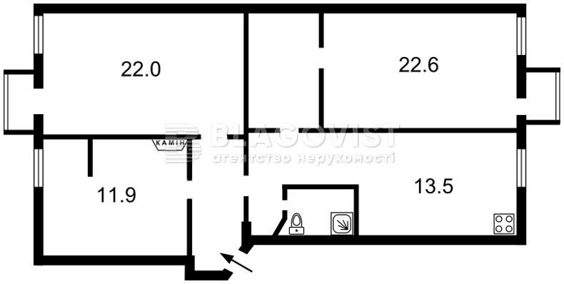 Квартира N-16783, Межигорская, 10, Киев - Фото 2