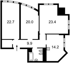 Квартира Дмитриевская, 80, Киев, F-35952 - Фото 2