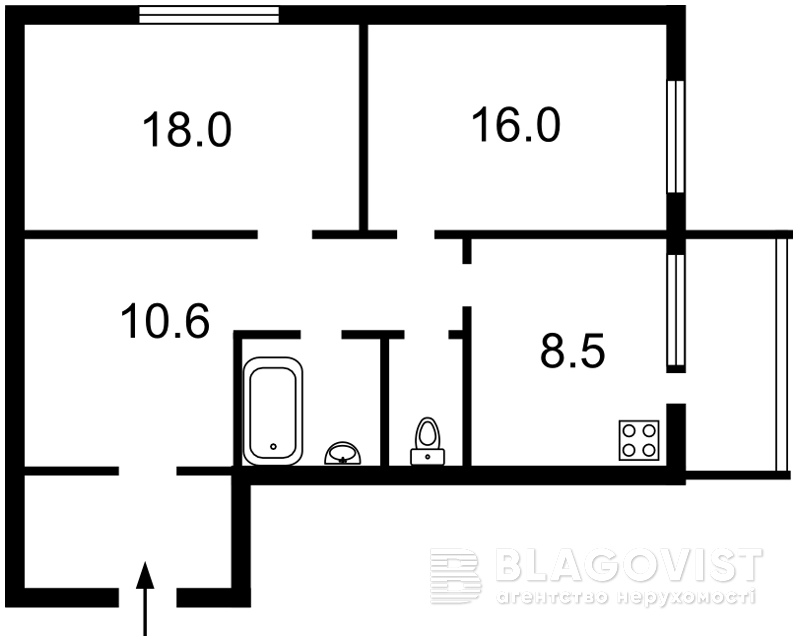 Квартира X-4166, Черновола Вячеслава, 8, Киев - Фото 4