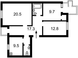Квартира Лобановського просп. (Червонозоряний просп.), 130, Київ, H-37279 - Фото2