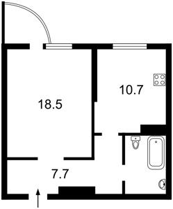 Квартира Ломоносова, 46/1, Киев, X-30687 - Фото2