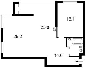 Квартира Лобановского просп. (Краснозвездный просп.), 4г, Киев, H-37336 - Фото2