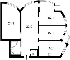 Квартира Механизаторов, 2, Киев, A-105945 - Фото2