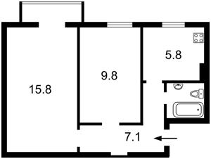 Квартира Пугачева, 6/29, Киев, N-11064 - Фото 2