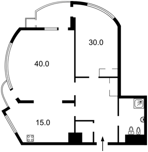 Квартира Механизаторов, 2, Киев, Z-1555455 - Фото2
