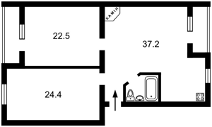 Квартира Хмельницкого Б. бульв., 5, Буча (город), E-35145 - Фото2
