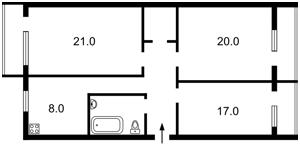 Квартира Бастіонний пров., 9, Київ, C-50191 - Фото2