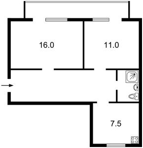 Квартира Драгомирова, 6б, Київ, B-58475 - Фото2